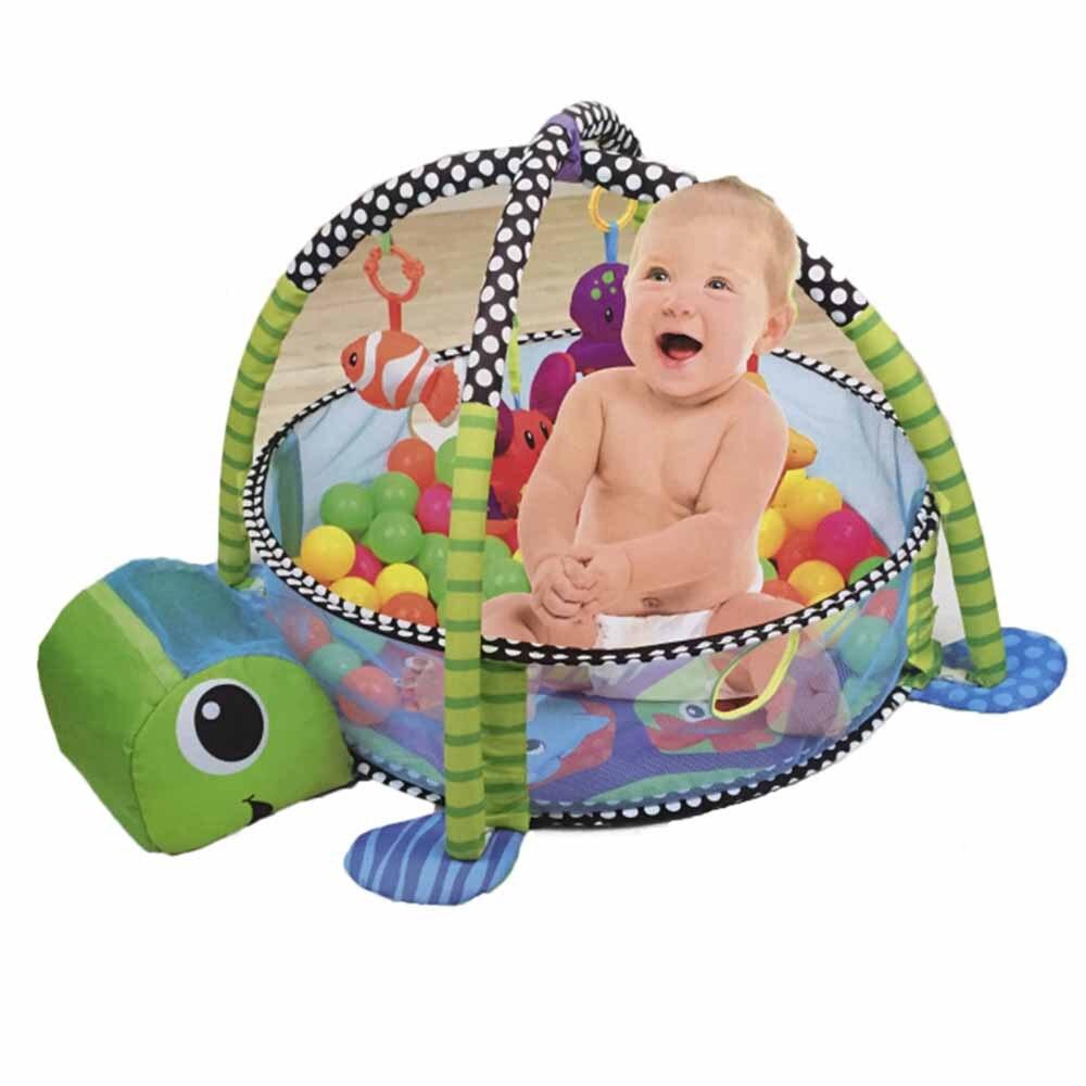 Jouet de dessin animé de bébé avec moi jeu de croissance ramper couverture de jeu et tube de balle couverture de plancher de bébé
