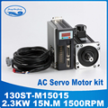 2.3KW 130ST-M15015 220 V AC Servo motore 2300 W 1500 RPM 15N. M. Monofase ac drive a magnete permanente Abbinato Driver AASD-30A