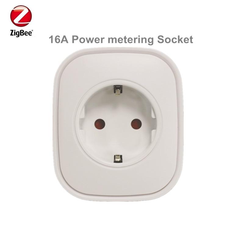 Promotion Heiman Zigbee Power Metering Plug Control Power On Off Socket Smart Home Device By Smart Zone App