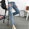 Europe Street Sequin Denim High Waist Jeans Women Harlan Pants Female Trousers Ripped Boyfriend Jeans for Women Plus Size XXXXXL