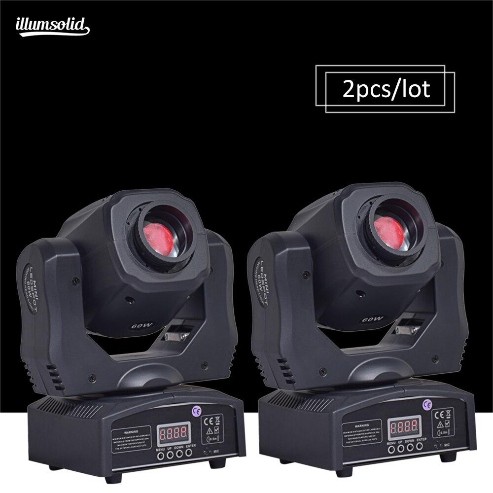 2 pieces lot moving 60w LED Moving Head gobo Light led dmx 512 control mini