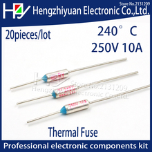 20pcs/lot 2017 Hot SF240E TF 240 Celsius Circuit Cut Off Thermal Fuse 250V 10A Thermal links Micro Mini Electrical Temp лампа philips x treme ultinon led w21w 12v led 2 5w w3x16d white 2 штуки 11065xuwx2
