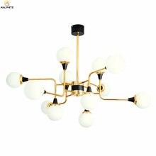 Modern Glass Pendant Lights Nordic Living Room Pendant Lamp Luminaria Golden Iron LED Decor Bedroom Hanging Lighting Luminaire цена