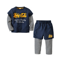 New Year Costume For The Boy 1 2 3 4 5 Year Winter Autumn Kids Letter Long Sleeve Shirt+pants Boys Back To School Outfit