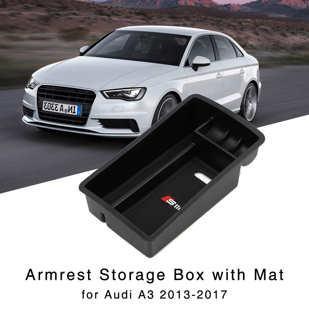 Armrest Storage Box For Audi A3 2013 2014 2015 2016 2017