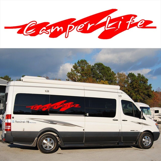 8691fb476c HotMeiNi 2x Camper Life Graphics (one for each side) Camper Van Graphics  Motor Home