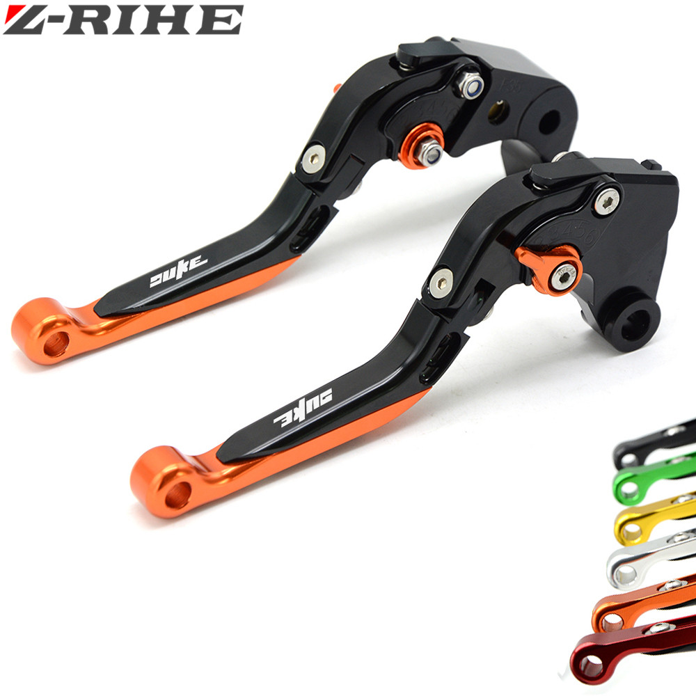 все цены на For KTM  Duke 390 Duke390 CNC Aluminum Motorcycle Brake Clutch Levers For KTM 390 Duke/RC390 2013-2016 200 Duke/RC200 2014-2015 в интернете
