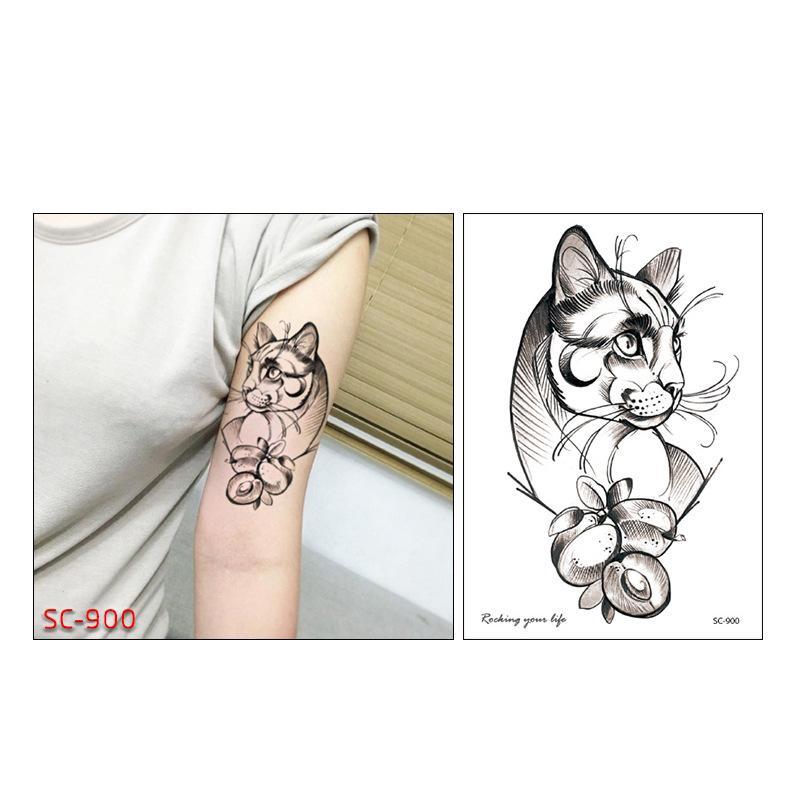 Us 057 45 Offkleurrijke Schilderij Bloem Dieren Tijdelijke Tattoos Honden Vossen Body Art Sexy Waterdichte Tijdelijke Tattoo Henna Fake Flash