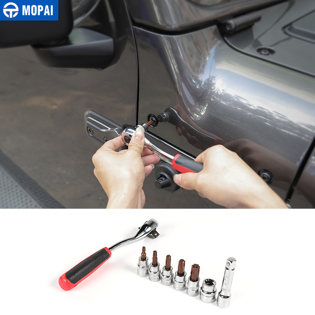MOPAI Car Hand-held Disassembly Tools for Jeep Wrangler JK JL 2007+ Screw Demolition Wrench Tool for Jeep Wrangler Accessories