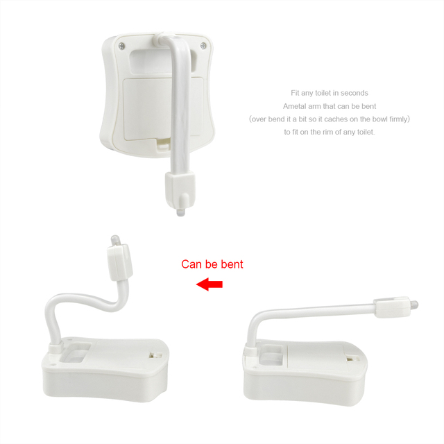 Motion Sensor Toilet Seat LED lamp