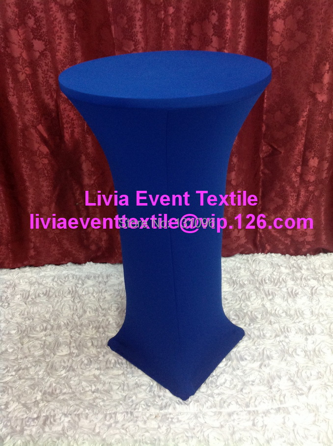 10pcs Extra Thicker #29 Royal Blue Lycra Cocktail Table Cover ,Lycra Dry Bar Cover Wedding Events &Party Decoration