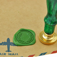 Olive Branch Wreath Wax Seal Stamp Brass Stamp