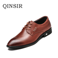 High Quality Fashion Handmade Mens Wedding Lace Up Genuine Leather Dress Shoes Party Business Male Mens