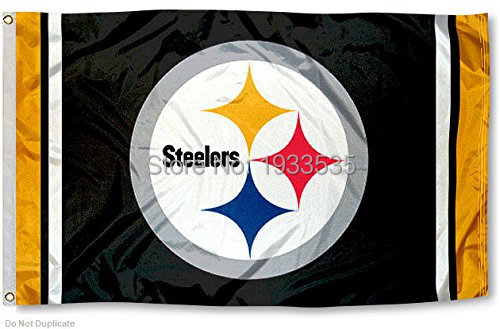 Pittsburgh Steelers Logo Flag Outdoor Flag 3 X 5 Banner Brass
