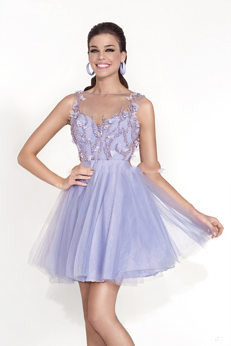 Short Prom puffy dresses for cute teenagers best photo