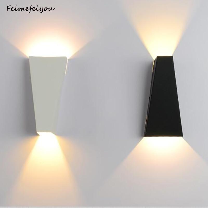 Feimeifeiyou 2020 الجدار الشمعدان LED مصباح 10 واط الألومنيوم السرير مصابيح للقراءة صعودا وهبوطا للحمام الممر سطح شنت