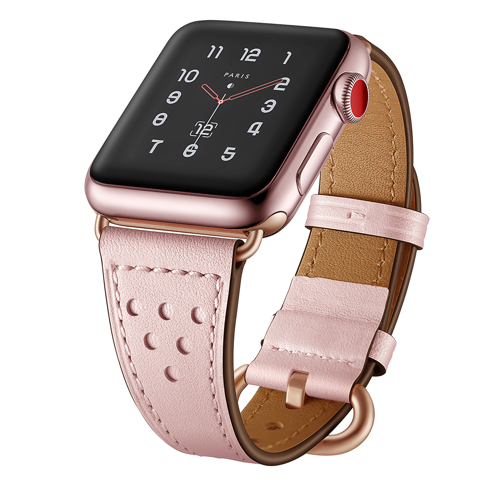 for apple watch bands 42mm 38mm leather strap iwatch series 3/2/1 watchband replacement bracelet wrist belt bracelet accessories for apple watch band leather watchband for iwatch bands 42mm 38mm series 3 2 1 butterfly buckle bracelet strap wrist accessories