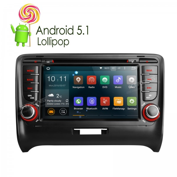 7Android 5.1 Quad Core touch Screen 1080P Video WiIFi CANbus Car Navigator DVD player With Screen Mirroring for Audi TT MK2