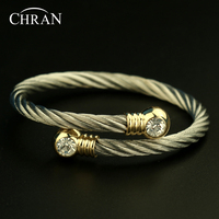 Free Shipping Austrian Crystal Silver Plated Women S Jewelry Party Gifts Elegant Fashion Stainless Steel Cuff