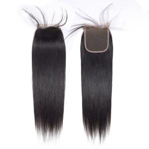Image 4 - ブラジルのストレートヘアの束で非レミー人間の髪織り束 28 30 32 インチバンドルで閉鎖