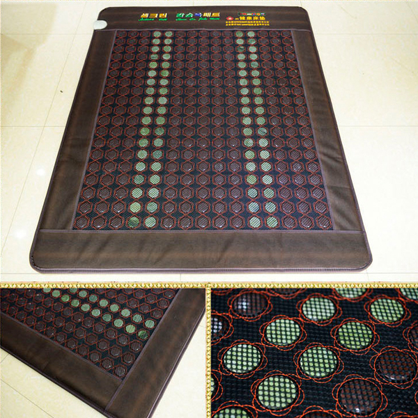 Good! Natural Tourmaline Mat Beauty Mattress Jade Physical Therapy Pad Infrared Heating Mat Size120x190cm 2017 new natural jade germanium tourmaline stones infrared heating mat natural jade facial beauty massage tool jade roller