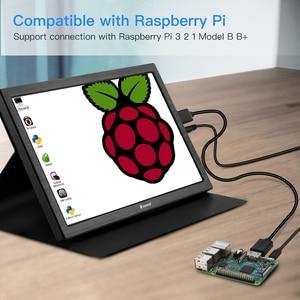 "Image 5 - 10 ""인치 휴대용 모니터 2560x1600 미니 hdmi lcd 디스플레이 ps4 xbox360 led moniteur 컴퓨터 scherm 노트북 라즈베리 모니터"