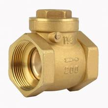 Female Thread Brass Non-return Swing Check Valve 232PSI Prevent Water Backflow DN32 DN40 DN50 Optional(China)