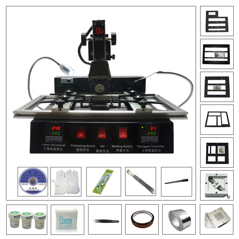 M770 infrared BGA soldering station with 80MM 90MM game console bga kit flux tape