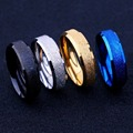 EVBEA Size 7-11 Unisex Rings Party 4 Four Colors Black/ Gold/Silver/Blue Trendy Titanium Steel Ring Newest For Valentine's Day