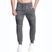 New Mens Pants Bodybuilding Fitness Tracksuit Trousers Autumn Casual Joggers Workout Pants Elastic Waist Slim Fit