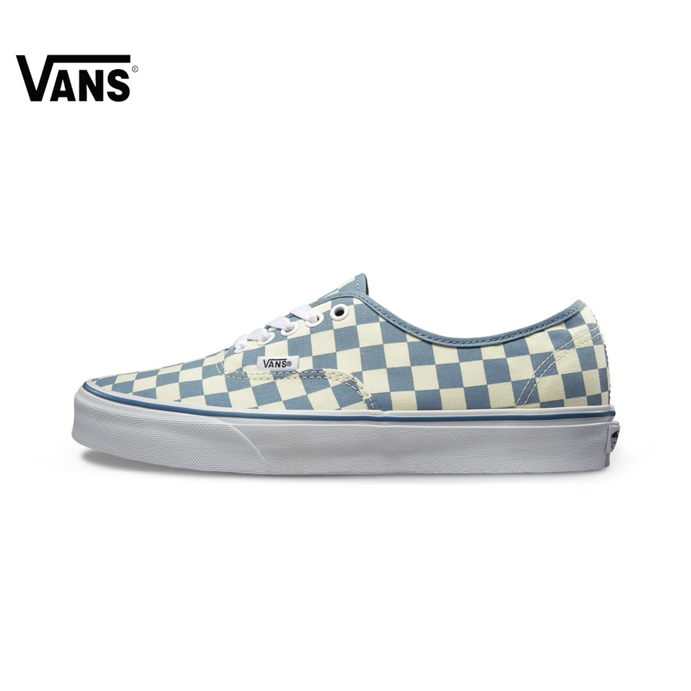 Original Vans Classic Vans Blue and White Unisex Skateboarding Shoes Canvas Shoes Sneakers Sports Shoes Comfortable blue and white canvas anti static shoes esd clean shoes pharmaceutical shoes work shoes add cotton
