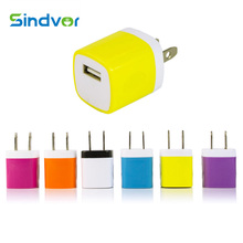 Sindvor Travel Charger 10 pcs/lot High Quality Usb Wall Us Plug Colorful Adapter For Iphone Roidmi Samsung