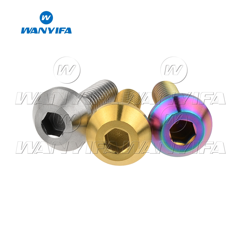 Wanyifa Titanium Bolt M6x 20mm Tapered Ball Conical Head for Yamaha Bicycle Motorcycle Brake Brakes in Bolts from Home Improvement