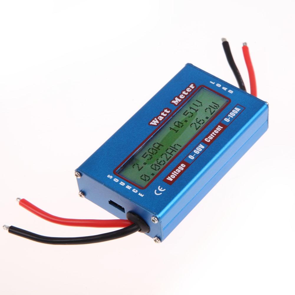 Simple LCD Digital DC Watt meter medidor de corriente medidor de energía Analizador de energía Watt Volt AMP meter amperímetro 12 V 24 V viento solar analizador