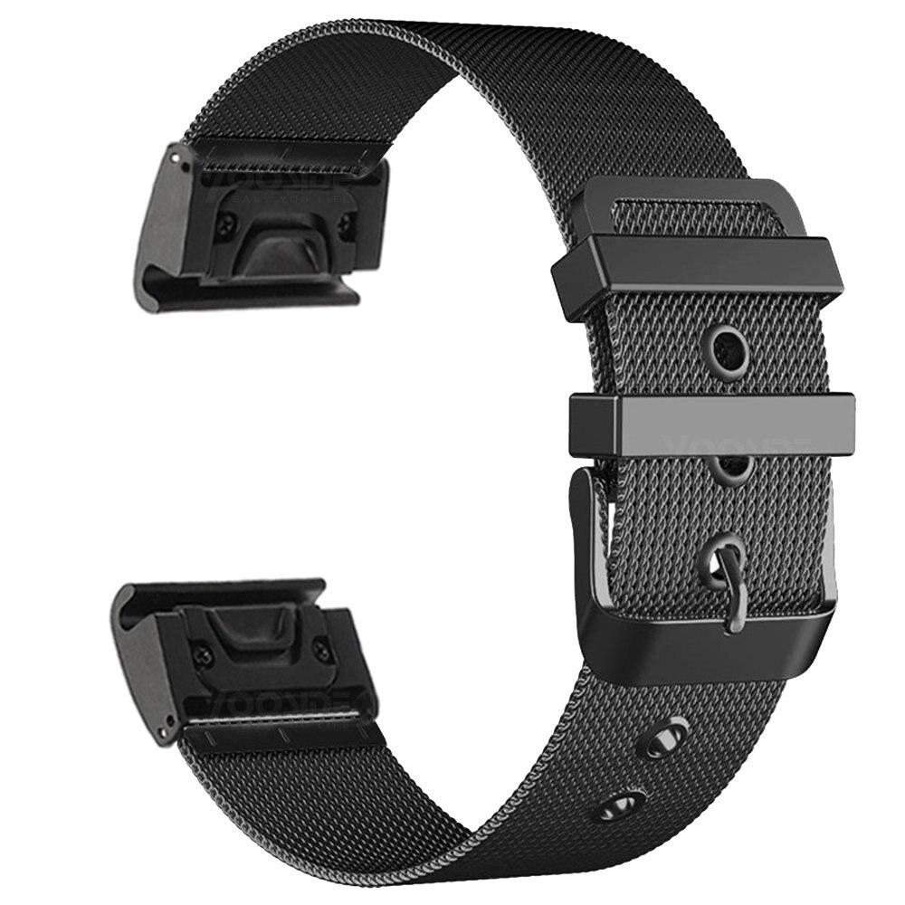 Fenix 6 pulseira 22mm quickfit milanesel pulseira