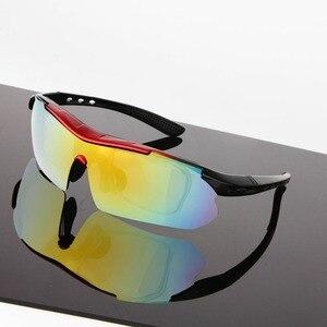 Image 2 - Spolaryzowane okulary rowerowe sportowe rowerowe okulary przeciwsłoneczne dla mężczyzn kobiety gogle okulary 5 soczewki okulary rowerowe MTB
