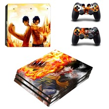 Anime One Piece Luffy PS4 Pro Skin Sticker For PlayStation 4 Console and 2 Controllers PS4 Pro Skin Stickers Decal Vinyl
