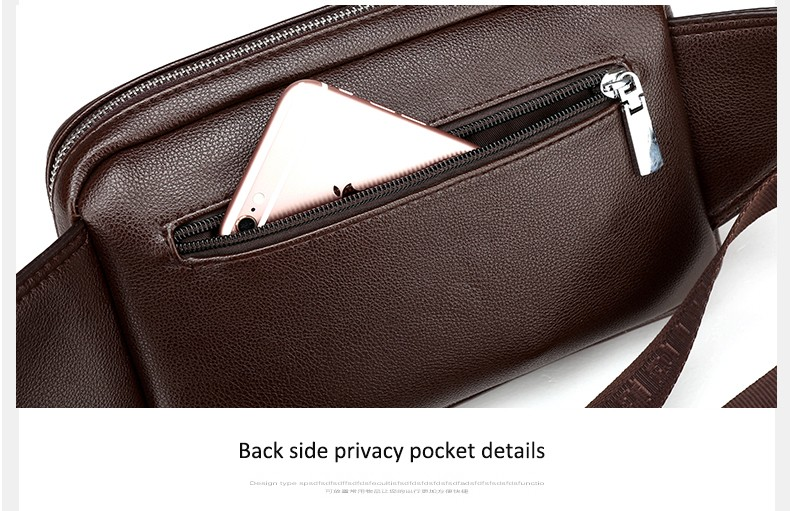 2016 Men Travel Bags Mens Leather Belt Bag Waist Pack Men Waist Bag Fanny Pack Leather Waist Pochetes Homem Bolso Cintura (39)