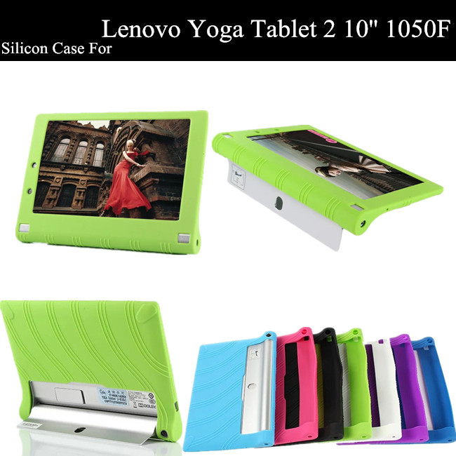 Galleria fotografica 2015 NEW YOGA 2 1050F Soft Silicon Case For Lenovo Yoga Tablet 2 10'' 1050f Soft Rubber Silicon Protective Case