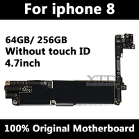For iPhone 8 Motherboard 100% Original Unlocked Logic Board For iPhone 8 Mainboard 64GB / 256GB Without Touch ID