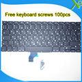 "Nova marca Para MacBook Pro Retina 13.3 ""A1502 RU teclado Russo + 100 pcs parafusos do teclado 2013-2015 anos"