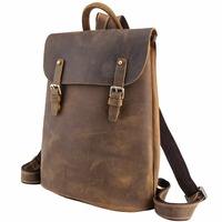 ce0d68f85ce9 TIDING Cool Flap Backpack Leather Day pack Teenage Vintage Style School  Backpack 31353
