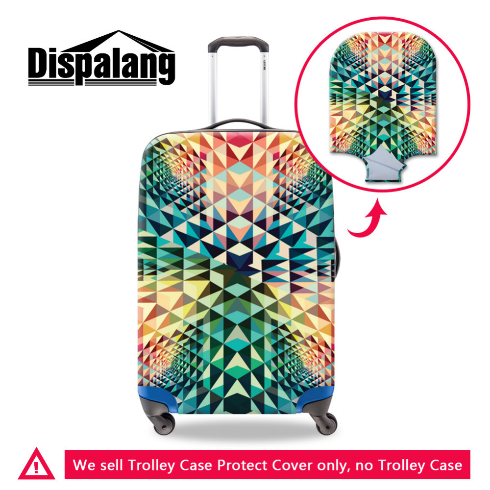 Geometric Print Luggage Protective Cover Elastic Anti-Scratch Suitcase Cover for 18-30 Inch Trolley Case Travel Accessories