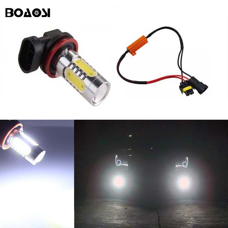 BOAOSI 1x Led COB H11 H8 Lighting 7.5W Car Driving Fog Light Lamp Bulb No Error For Skoda Octavia 2010-2014 brand new laptop for dell inspiron 15 15r 5521 5537 3537 3521 lcd back cover upper cover bezel case palmrest cover bottom case