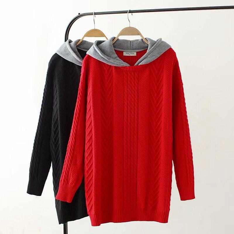 Nouveau automne grande taille chandail à capuche à manches longues Slim décontracté Twist Crochet pull chandails femmes tricoté pulls YY8568