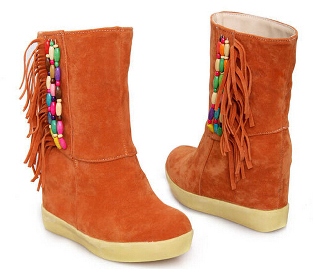 Online Get Cheap Fringe Ankle Boots Wedge -Aliexpress.com ...