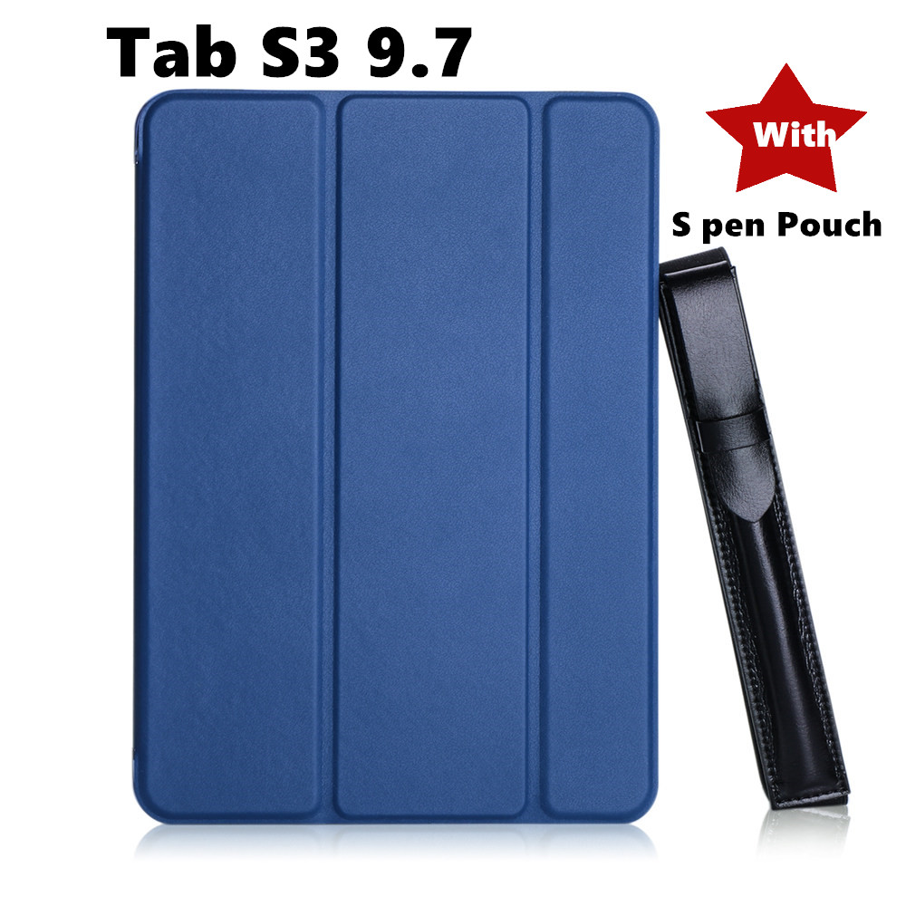 Tab s3 9.7 Painted Slim Magnetic Folding PU Case Flip cover For Samsung Galaxy Tab S3 9.7 9.7