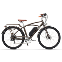 COMET 700C Electric Bicycle 48V 13Ah 500W High Speed Electric Bike 5 Level Pedal Assist Longer Endurance Retro Style Ebike