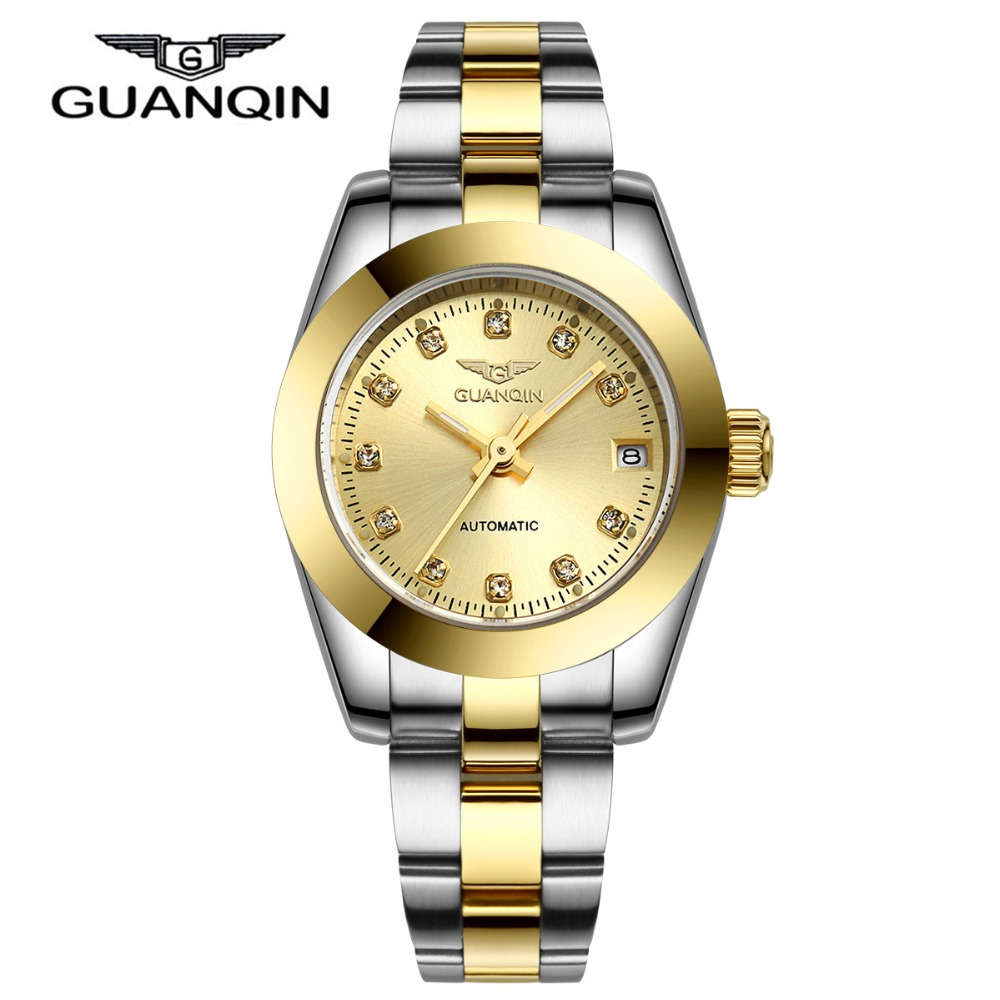 Relogio Feminino Clock Fashion Luxury GUANQIN Dress Diamond Bracelet Women Watches Ladies Fashion Watch Casual Women