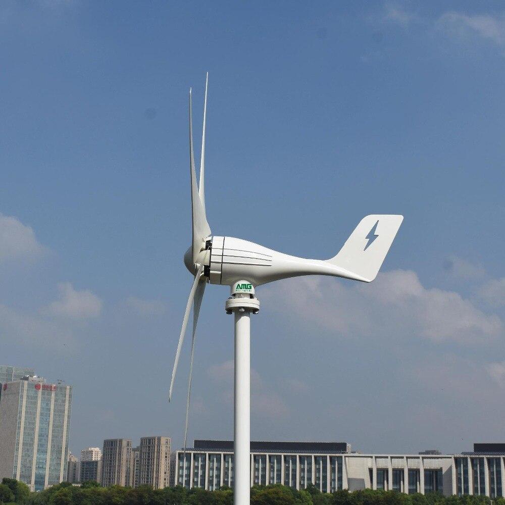 Générateur d'énergie horizontal d'éolienne de 500 W 12 V/24 V pour l'usage à la maison avec le contrôleur imperméable de MPPT (boost)